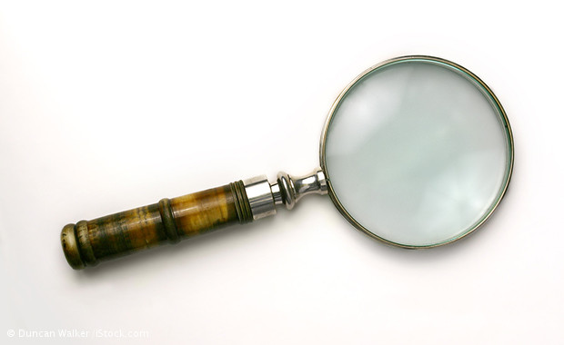 Magnifying glass, Ms Winslow